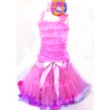 AM12001- PINK RUFFLE DRESS UP SET
