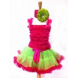 AM12002-FUCHSIA RUFFLE DRESS UP SET