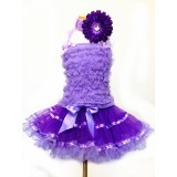AM12004-PURPLE RUFFLE DRESS UP SET