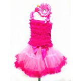 AM12005-HOT PINK RUFFLE DRESS UP SET