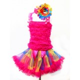 AM12007-RAINBOW RUFFLE DRESS UP SET