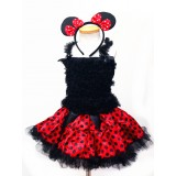 AM13014-RED POLKA DOT MINNIE DRESS UP SET