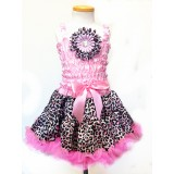 AM14001-PINK LEOPARD DRESS UP SET