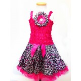 AM14002-FUCHSIA LEOPARD DRESS UP SET