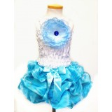 AM14007-BLUE WAVY DRESS UP SET