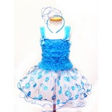 AM15004-BLUE FLOWER DRESS UP SET