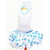 AM15004-1 BLUE FLOWER DRESS UP SET