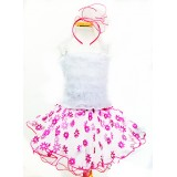 AM15006-FUCHSIA FLOWER TUTU DRESS UP SET