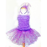 AM15007-LAVENDER DOT DRESS UP SET