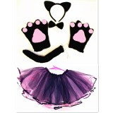 CTU8420-BLACK BEAR DRESS UP SET