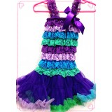CTP334-PURPLE RAINBOW PETTI DRESS