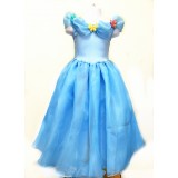 CTP455-BLUE PRINCESS BUTTERFLY DRESS