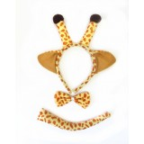 CTR051-3 BROWN GIRAFFE ANIMAL DRESS UP SET
