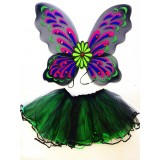 CTU13100BK- TEEN'S BLACK FAIRY DRESS UP SET