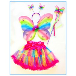 CTU1908-RB PRETTY RAINBOW BUTTERFLY FAIRY SET