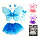 CTU1909- GLITTER BUTTERFLY TUTU DRESS UP SET