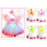 CTU2002-GLITTER FAIRY SET-WING, WAND TUTU