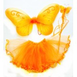 CTU6019-OR ORANGE FAIRY DRESS UP SET