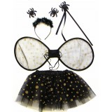 CTU8002- BLACK SPIDER DRESS UP SET
