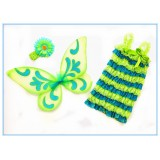 CTU8426-BLUE GREEN ROMPER SET