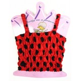 CTP321LD-LADY BUG  SATIN STRETCH TOP