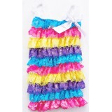 CTP326RB-1--BRIGHT COLOR RAINBOW LACE ROMPER