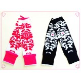 LW005-FLOWER DESIGN LEG WARMER