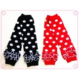 LW033-1 POLKA DOT KNITTED LEG WARMER