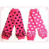 LW033-2 POLKA DOT KNITTED LEG WARMER