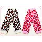LW035-KNITTED LEOPARD DESIGN LEG WARMER