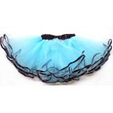 OD2019TQ--TURQUOISE BLACK EDGE LAYER TUTU