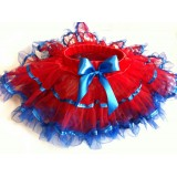 OD2022REDBL--RED PETTI SKIRT BLUE RUFFLE