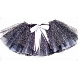OD2026BK--CHEETAH PRINT BLACK &WHITE TUTU