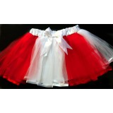 OD2036RDWT--Red/ White Two tone Color Tutu