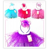 OD2068- GLITTER TUTU WITH HEADBAND SET