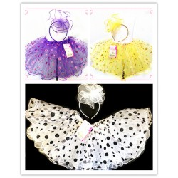 OD2074- GLITTER DOT  TUTU WITH HEADBAND SET