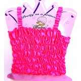 CTP321HP--HOT PINK STATIN STRETCH TOP