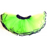 OD2019GR---GREEN BLACK EDGE LAYER TUTU
