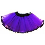 OD2019PP--PURPLE BLACK EDGE LAYER TUTU