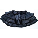 OD2025BK--BLACK TIERED SHEER TUTU