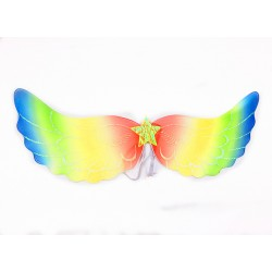 W13103-RB - ADULT  RAINBOW ANGEL WING