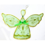 "NL3221- 24"" SHEER GREEN ANGEL  DECOR"