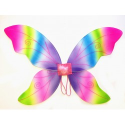 W28706-RB ADULT RAINBOW FAIRY WING