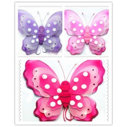 "W29145-16"" KID 3D BUTTERFLY WING"