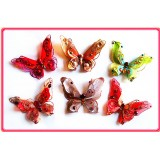 "B082544-6"" 3D FEATHER JEWELED BUTTERFLY CLIP"