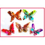 "B082365-8"" 3D FEATHER JEWELED BUTTERFLY CLIP"
