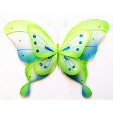 "B21965-GR 21"" DOUBLE LAYER BUTTERFLY DECOR"