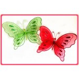 "B28060LR-14"" RED SPARKLE BUTTERFLY DECOR"