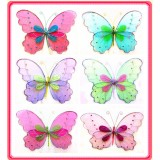 "B29004-16"" SHEER TWO TONE BUTTERFLY"
