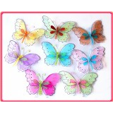 "B29004C-5.5"" SHEER TWO TONE BUTTERFLY"